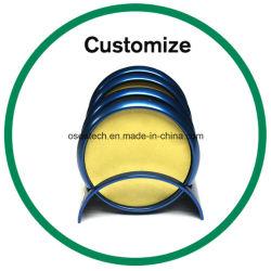 Logotipo personalizado Posavasos de metal de acero inoxidable con soporte