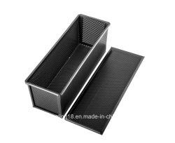 Toast boîte en aluminium de silicone de perforation/Miche Pan (des deux côtés de la non-stick)