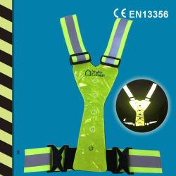 Chaleco reflectante con LED W13356 Ce en fábrica china