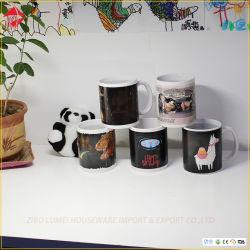Changement de couleur magique en céramique 11oz tasses vierge pour impression en sublimation