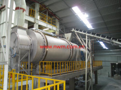 Triple sécheur de sable de tambour pour l'usine de mortier sec
