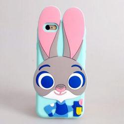 2017 Cartoon Big Oreille de lapin couvercle en silicone pour téléphone cellulaire