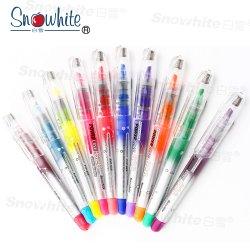 Leuchtmarker-Feder Pvp626 von Snowhite 10 Farben sortierte Meißel-Spitze-Leuchtstoff flüssige Tinte