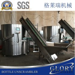 Botella/Unscrambler Automática de Botellas de la Organización de la máquina