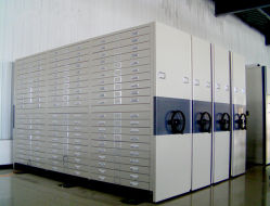 Temperatura de armazenamento de ficheiros de desenho armário de aço /prateleira móvel