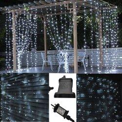 1.5X1.5m 3x2m blanc TV LED Backgroun décorer Jardin chaîne maille filet lumière