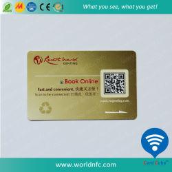 Custom Ntag PVC203 de la Vierge de gros de NFC Business Carte à puce