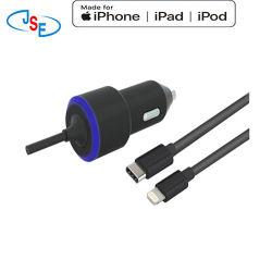 USB-Pd автомобильное зарядное устройство для iPhone Xs/Xs Max/Xr / X / 8/7 / 6 / плюс, iPad PRO/воздуха 2 / Mini, обратите внимание на 5/4, LG, Nexus, HTC и более