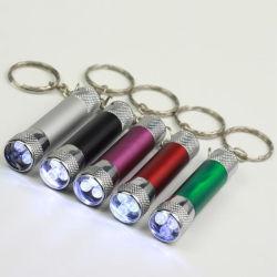 열쇠 고리 관례 로고를 가진 소형 알루미늄 합금 LED 플래쉬 등