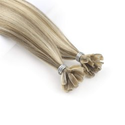 Grau superior a queratina U Cabelo Cabelo Pre-Bonded Extensão de cabelo Stick U Dica de cabelo humano
