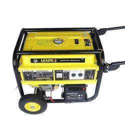 Nuevo 5.0 Kw de potencia Asa y ruedas de la gasolina motor generador portátil