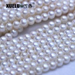 8-9mm redondo verdaderas perlas de agua dulce de buena calidad natural de hebras de material de Perla cultivada de proveedor, Zhuji Pearl