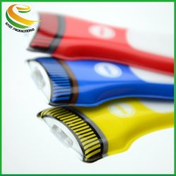 Пвх брелок лампа LED цепочки ключей фонарик с логотипом в подарок для продвижения
