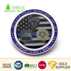 매우 장식적인 주문 금속 높은 Polished 관광객을%s 은에 의하여 도금되는 타이란드 코끼리 기념품 동전