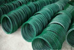 Navaja de PVC Revestimiento en polvo de alambre de púas