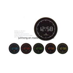 Circulando Analog-Digital LED controlado por rádio relógio de parede