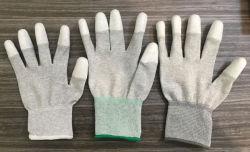 ESDカーボン指の上塗を施してある手袋