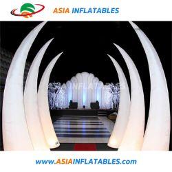 Gonflable cône d'éclairage, éclairage Inflatables Tubes d'air, LED Inflatable Tusk