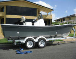 Schip van de Boot van het Werk van de Boot van Panga van de Glasvezel van Liya 5.8meters het Dubbele Hull
