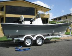 Liya 5.8meters Fibra de vidrio de doble casco Panga Barco Barco Barco de trabajo