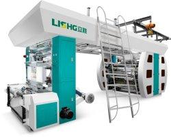 6 Farben-zentraler Trommel BOPP PET Film-flexographische Drucken-Maschine