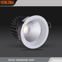 LED haute puissance COB encastré plafond, lumière, éclairage à LED IP44 Downlight Led avec