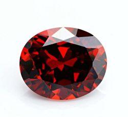 卸し売り緩い楕円形の切口のガーネット立方ジルコニアCZの宝石用原石