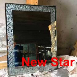La forma de arte de madera de Sun espejo decorativo espejo de pared (LH-M170603)