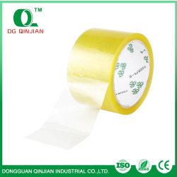 De gele Zelfklevende Transparante Verpakkende Band BOPP van de Kleur