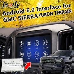 Plug&Play Android 6.0 Système de navigation GPS pour 2014-2018 GMC Yukon Sierra Terrain etc. avec le WiFi Google Yandex etc.