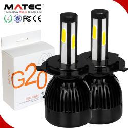 G20 ampoules LED Lampe phare auto projecteurs 80W 8000lm H4 H7 H11 9005 9006 H1 H3 880 Feu de brouillard