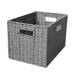 Accueil Panier de stockage du papier tissé de paille