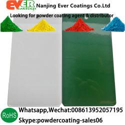Finition satinée thermodurcissable de pulvérisation électrostatique RAL9003 enduit de poudre de couleur blanche