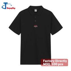 Men's Classic personalizada algodón Piqué gráfico impreso Serigrafía camisetas polo