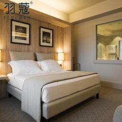 도매 풀사이즈 호텔 화이트 이불 커버 4피스 침대 리넨 100% 면