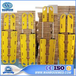 A ea-5b dobra de salvamento de plástico amarelo goteira maca para primeiros socorros