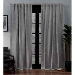Черная жемчужина Home шторы корзину соткать тканого светонепроницаемые скрытой вкладки верхней части окна панели управления 52x84 дюймов шторки окна