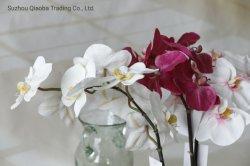 Décoration de fleurs artificielles en 3D avec 12 têtes plastique intérieur jardin de fleurs de mariage