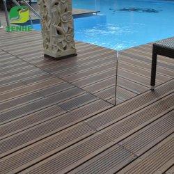 침실 대나무 마루를 위해, 건류된 자연적인 백색 색깔 단단한 수직 대나무 마루를 가진 새로운 고품질 대나무 마루