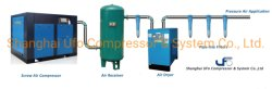 10m3/min tipo parafuso 55kw Compressor de ar para a máquina de embalagem de alimentos