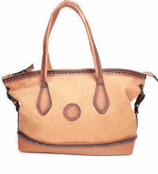 2019 Moda Logotipo Emboss Cliente Tecido Pintura especial de bolsas de couro PU Lady Bag