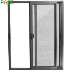 L'aluminium porte coulissante en verre avec l'écran en acier inoxydable