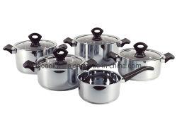 Edelstahl9pcs cookware-gesetzter kochender Potenziometer, Kasserolle
