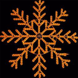 Grande indicatore luminoso esterno di motivo del fiocco di neve dell'indicatore luminoso della corda di natale LED