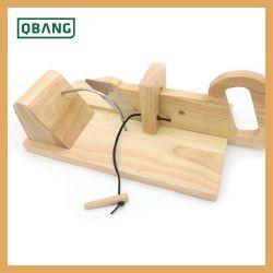 Cortadora de embutidos personalizado con material de bambú fábrica mesa de cocina