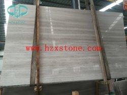 Marmo di legno bianco vene/del grano/lastre di Serpeggiante/mattonelle bianche/copertura/marmo reticolo/di bordatura
