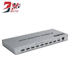 Conmutador HDMI 8 entrada HDMI y 1 salida Szbitc 4K/2K@30Hz dividir parte 8 se muestran en la HDTV