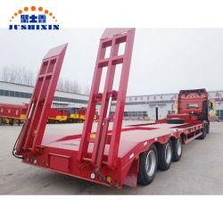 Les machines de transporter 3 essieux 60tonne faible lit semi-remorque de camion