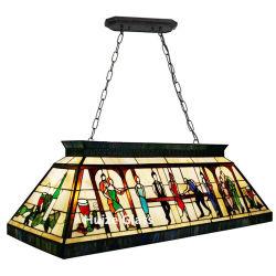 Alta lampada Pendant della Tabella di raggruppamento di vetro macchiato degli indicatori luminosi del biliardo di Tiffany di quantità