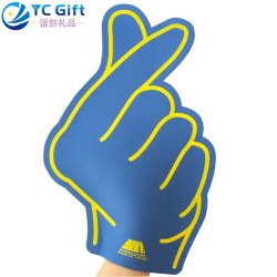 工場卸し売り注文 EVA の泡の指の手は多彩な印刷された スポーツは応援のチームに会う手親指を応援するグローブを応援する プロモーションギフト
